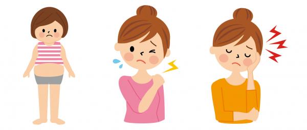歪みによって太ったり肩こりや頭痛が起きることが多いです